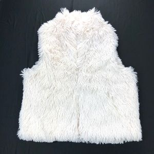 Cejon Shaggy Faux Fur Vest Women's XL
